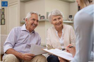 elder couple in meeting