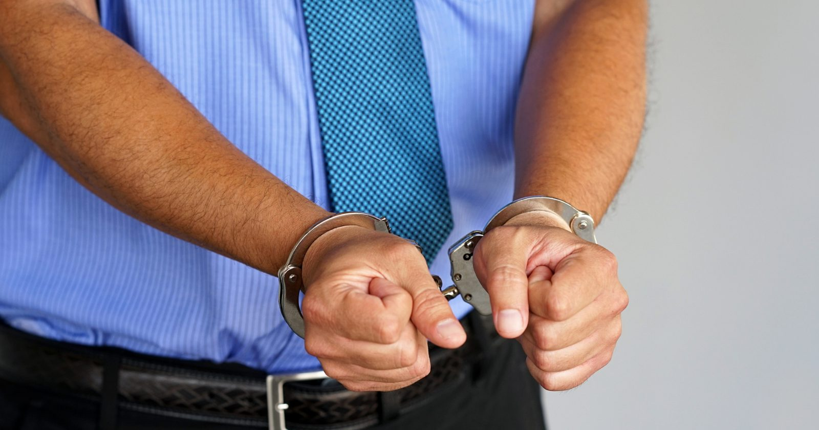 man in cuffs