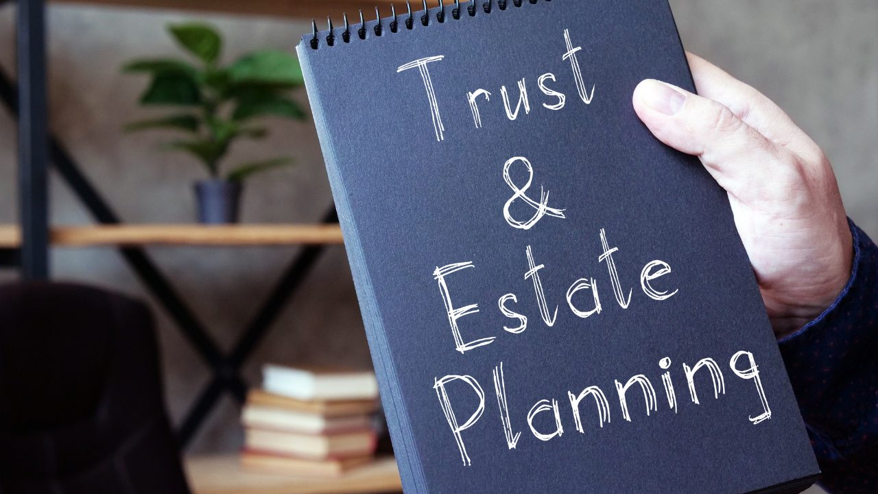 notebook with trust and estate planning